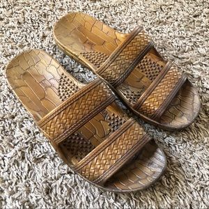 Hawaii Imperial jelly sandals, tan, size 6